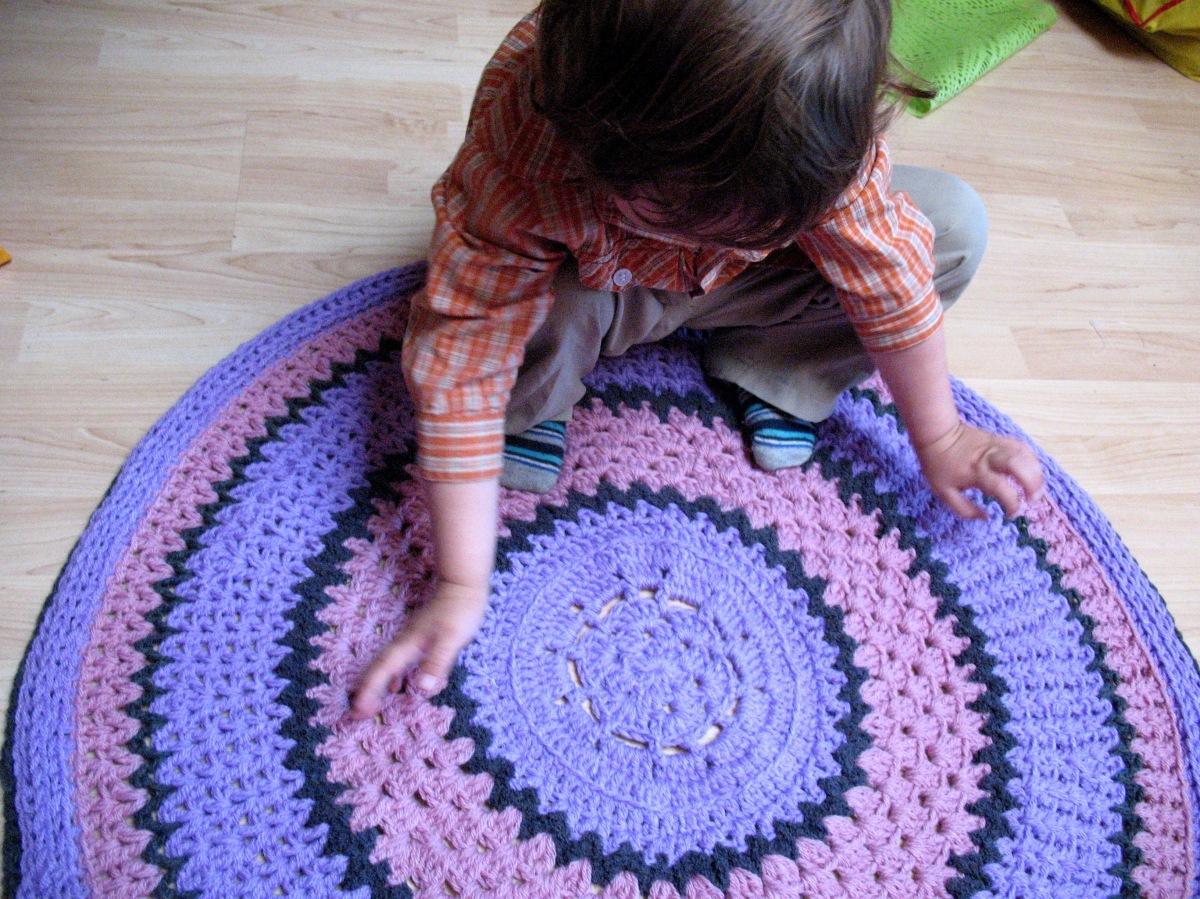 Teppich in Rosa und Flieder  TeppichArt